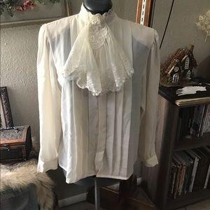 Gothic Romantic Vampire Blouse W/ Cravat
